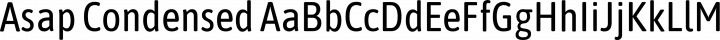 Asap Condensed Regular free font