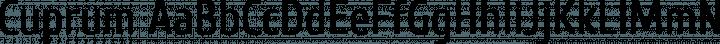 Cuprum font family by Jovanny Lemonad
