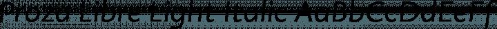 Proza Libre Light Italic free font