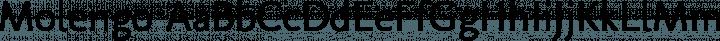 Molengo Regular free font
