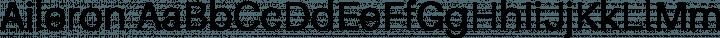 Aileron Regular free font