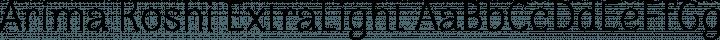 Arima Koshi ExtraLight free font