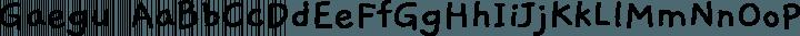 Gaegu Regular free font