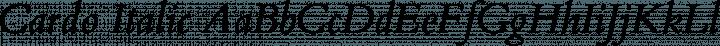 Cardo Italic free font