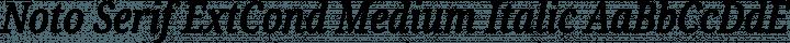 Noto Serif ExtCond Medium Italic free font