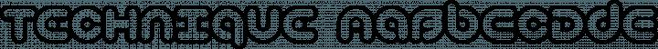 Technique font family by Brian Kent