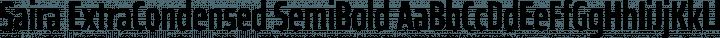 Saira ExtraCondensed SemiBold free font