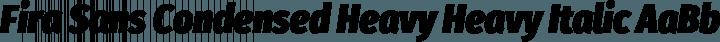 Fira Sans Condensed Heavy Heavy Italic free font