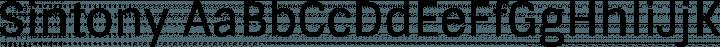 Sintony font family by Eduardo Tunni