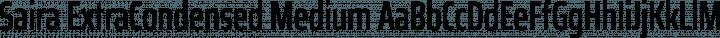 Saira ExtraCondensed Medium free font