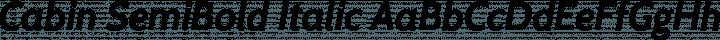 Cabin SemiBold Italic free font