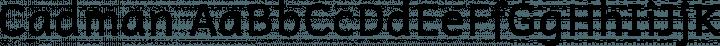 Cadman font family by Paul Miller