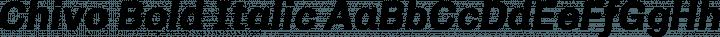 Chivo Bold Italic free font