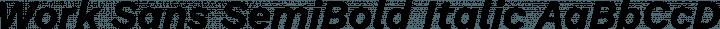 Work Sans SemiBold Italic free font