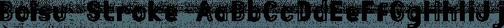 Boisu Stroke free font