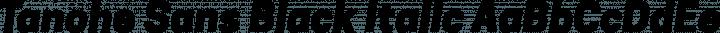 Tanohe Sans Black Italic free font