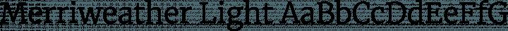 Merriweather Light free font