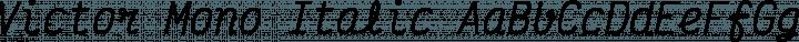 Victor Mono Italic free font