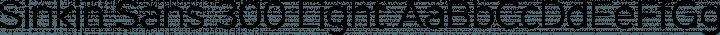 Sinkin Sans 300 Light free font