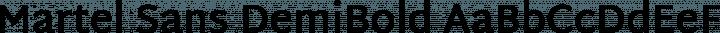 Martel Sans DemiBold free font