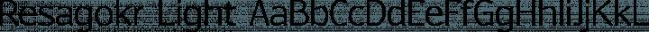 Resagokr Light free font