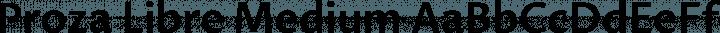 Proza Libre Medium free font