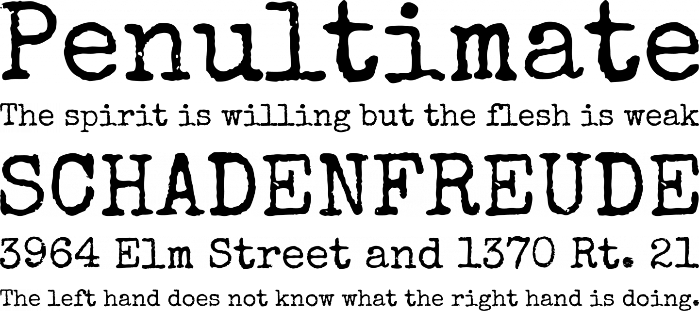 Special Elite Font Free by Astigmatic » Font Squirrel