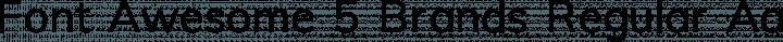 Font Awesome 5 Brands Regular free font