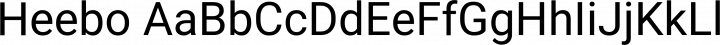 Heebo font family by Meir Sadan