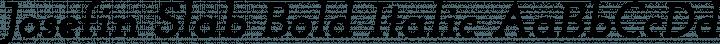 Josefin Slab Bold Italic free font