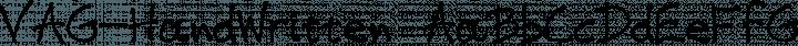 VAG-HandWritten font family by VAGDesign
