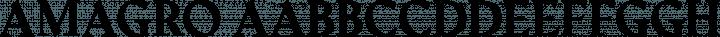 Amagro font family by Fabio Servolo