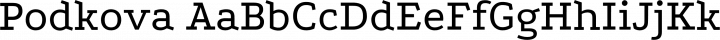Podkova Regular free font