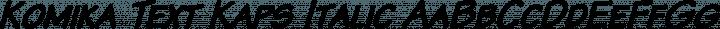 Komika Text Kaps Italic free font