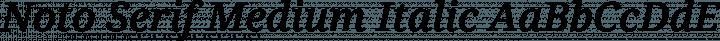 Noto Serif Medium Italic free font