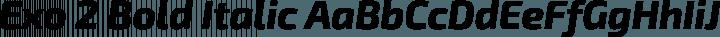 Exo 2 Bold Italic free font