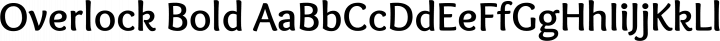 Overlock Bold free font