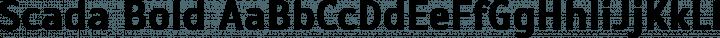 Scada Bold free font