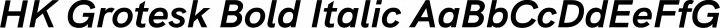 HK Grotesk Bold Italic free font
