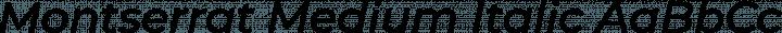 Montserrat Medium Italic free font