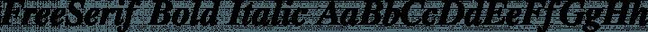 FreeSerif Bold Italic free font