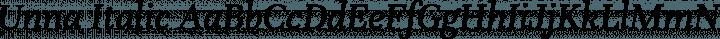 Unna Italic free font