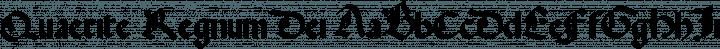 Quaerite Regnum Dei font family by Fredrick Brennan