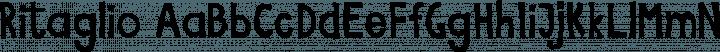 Ritaglio font family by Archistico