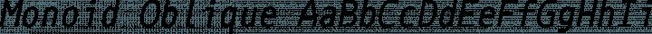 Monoid Oblique free font