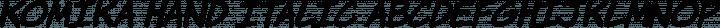 Komika Hand Italic free font