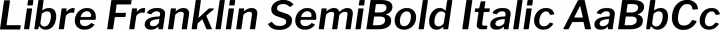Libre Franklin SemiBold Italic free font