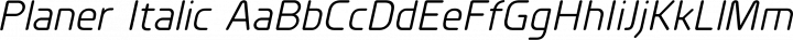 Planer Italic free font