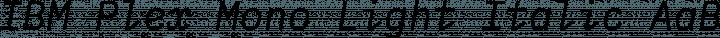 IBM Plex Mono Light Italic free font