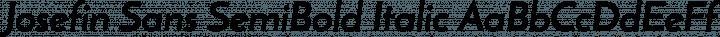 Josefin Sans SemiBold Italic free font